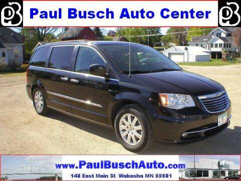 2016 Chrysler Town and Country for sale at Paul Busch Auto Center Inc in Wabasha MN