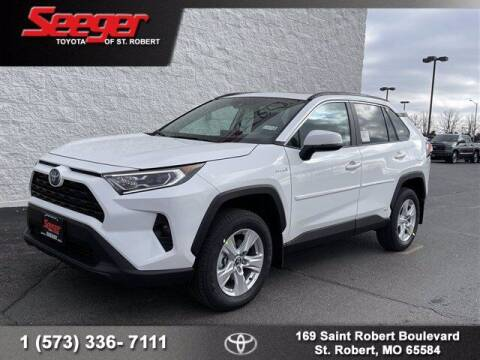 2021 Toyota RAV4 Hybrid for sale at SEEGER TOYOTA OF ST ROBERT in St Robert MO