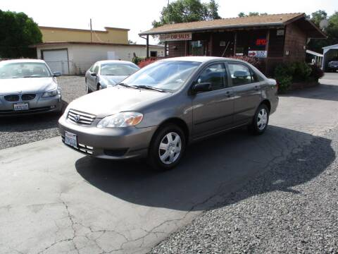 2004 Toyota Corolla for sale at Manzanita Car Sales in Gridley CA