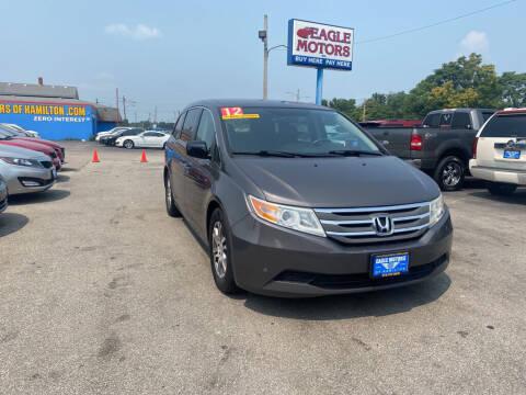 2012 Honda Odyssey for sale at Eagle Motors in Hamilton OH