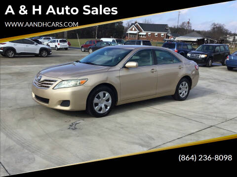 2010 Toyota Camry for sale at A & H Auto Sales in Greenville SC