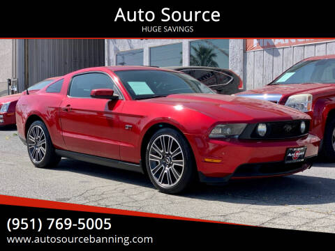 2010 Ford Mustang for sale at Auto Source in Banning CA