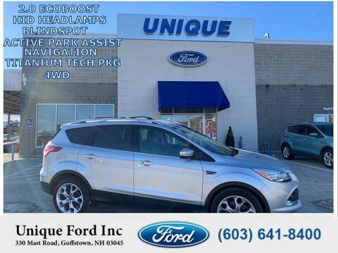 2014 Ford Escape for sale at Unique Motors of Chicopee - Unique Ford in Goffstown NH