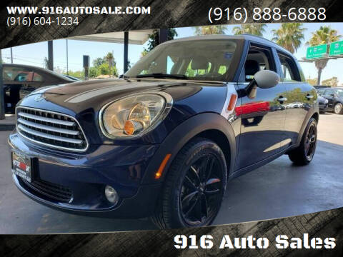 2012 MINI Cooper Countryman for sale at 916 Auto Sales in Sacramento CA