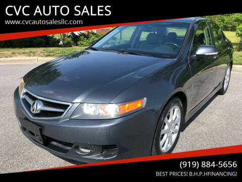 2007 Acura TSX for sale at CVC AUTO SALES in Durham NC