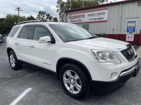 2008 GMC Acadia for sale at Keisers Automotive in Camp Hill PA