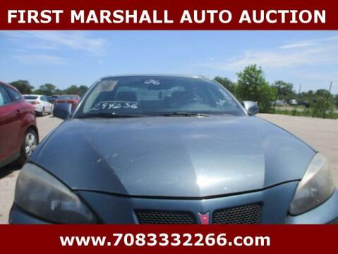 2006 Pontiac Grand Prix for sale at First Marshall Auto Auction in Harvey IL