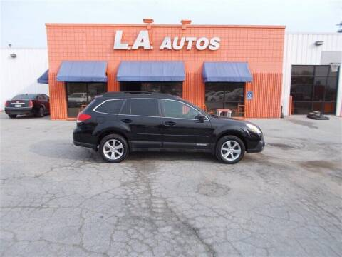 2013 Subaru Outback for sale at L A AUTOS in Omaha NE