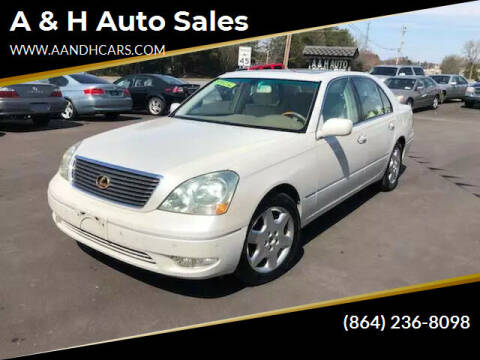 2003 Lexus LS 430 for sale at A & H Auto Sales in Greenville SC