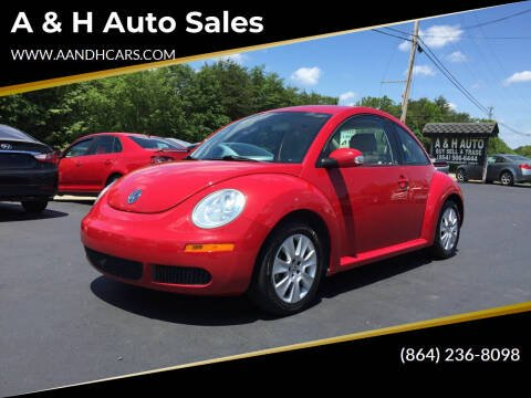 2008 Volkswagen New Beetle for sale at A & H Auto Sales in Greenville SC