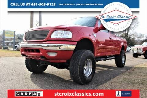2001 Ford F-150 for sale at St. Croix Classics in Lakeland MN