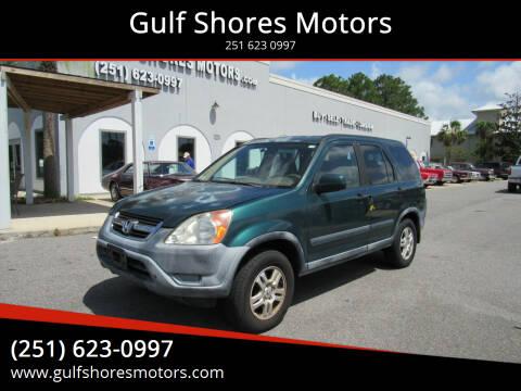 2002 Honda CR-V for sale at Gulf Shores Motors in Gulf Shores AL