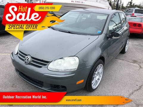 2008 Volkswagen Rabbit for sale at Outdoor Recreation World Inc. in Panama City FL
