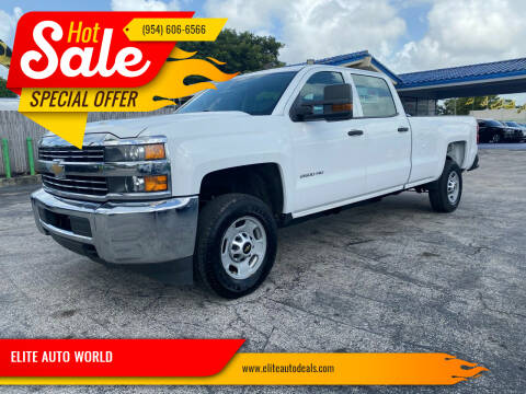 2015 Chevrolet Silverado 2500HD for sale at ELITE AUTO WORLD in Fort Lauderdale FL