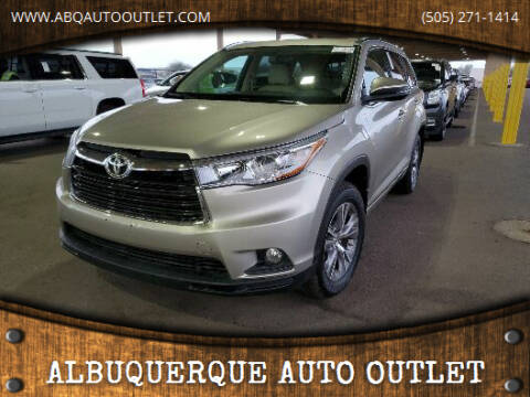 2015 Toyota Highlander for sale at ALBUQUERQUE AUTO OUTLET in Albuquerque NM