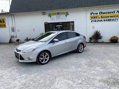 2012 Ford Focus for sale at Klett Automotive Group in Saint Augustine FL