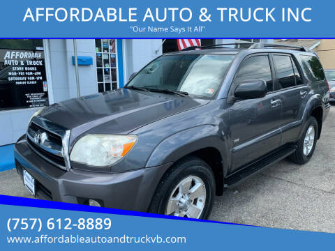 2007 Toyota 4Runner for sale at AFFORDABLE AUTO & TRUCK INC in Virginia Beach VA