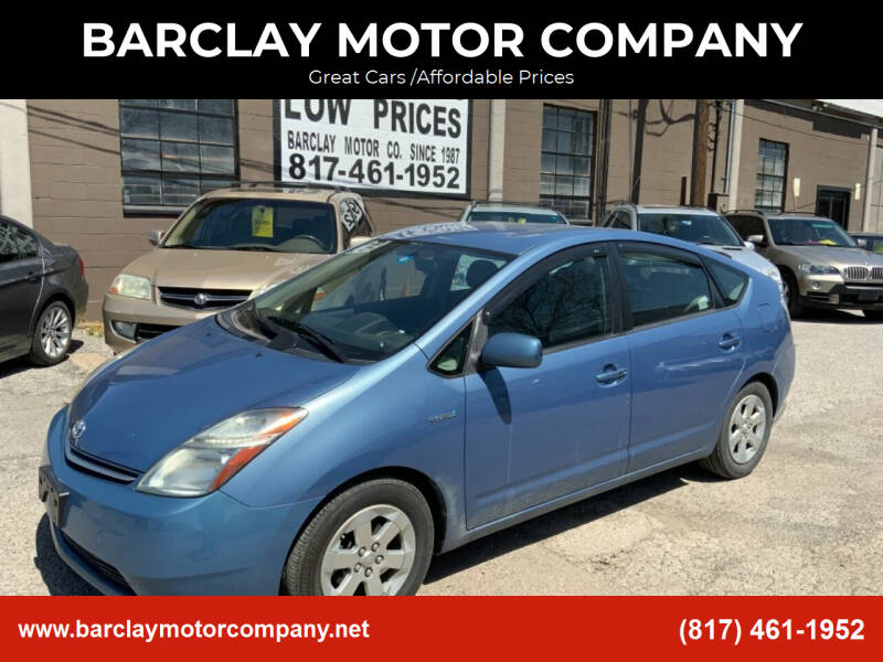 2007 Toyota Prius for sale at BARCLAY MOTOR COMPANY in Arlington TX