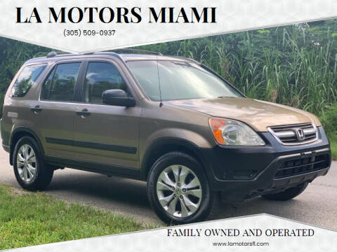 2003 Honda CR-V for sale at LA Motors Miami in Miami FL