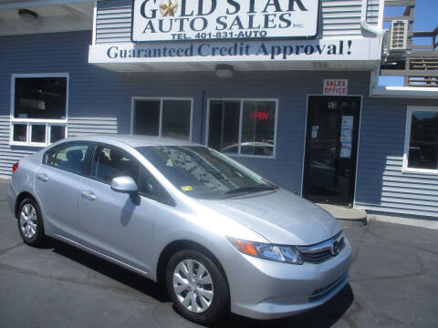 2012 Honda Civic for sale at Gold Star Auto Sales in Johnston RI