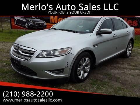 2010 Ford Taurus for sale at Merlo's Auto Sales LLC in San Antonio TX