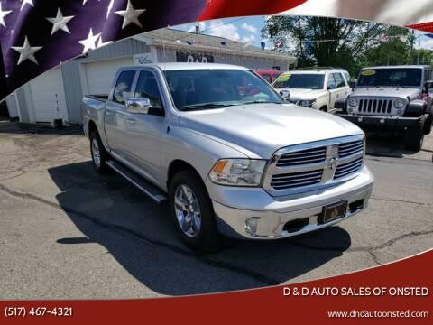 2014 RAM Ram Pickup 1500 for sale at D & D Auto Sales Of Onsted in Onsted   Brooklyn MI