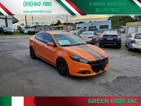 2013 Dodge Dart for sale at Green Ride Inc in Nashville TN