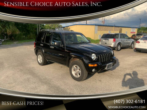 2002 Jeep Liberty for sale at Sensible Choice Auto Sales, Inc. in Longwood FL