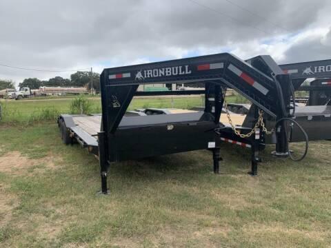 2022 Iron Bull ETG0226 26' GOOSENECK LOWBOY M for sale at The Trailer Lot in Hallettsville TX