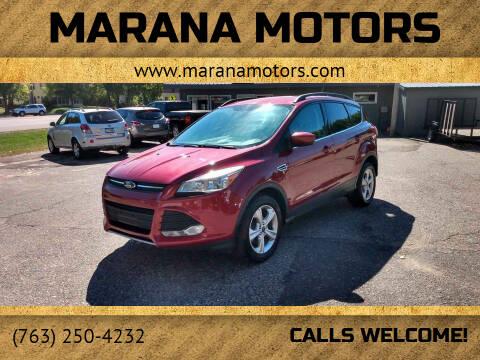 2014 Ford Escape for sale at Marana Motors in Princeton MN