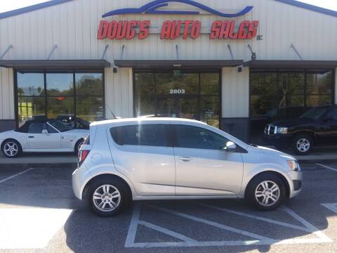 2013 Chevrolet Sonic for sale at DOUG'S AUTO SALES INC in Pleasant View TN