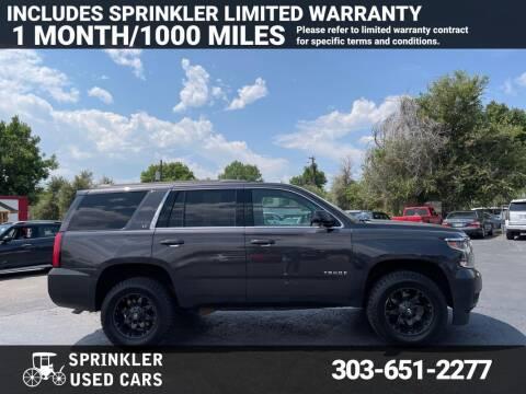 2015 Chevrolet Tahoe for sale at Sprinkler Used Cars in Longmont CO