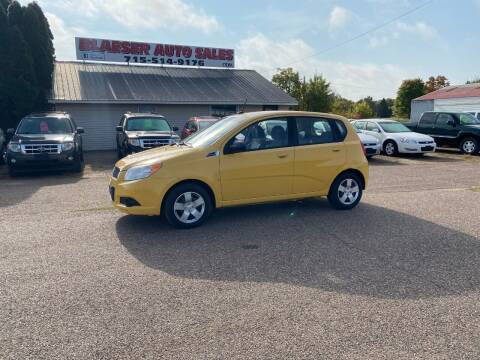 2009 Chevrolet Aveo for sale at BLAESER AUTO LLC in Chippewa Falls WI