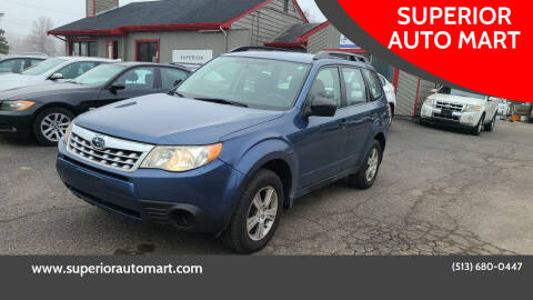 2012 Subaru Forester for sale at SUPERIOR AUTO MART in Amelia OH
