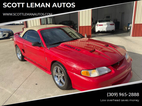 1995 Ford Mustang for sale at SCOTT LEMAN AUTOS in Goodfield IL