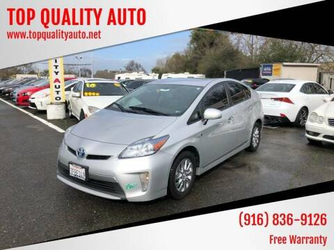 2014 Toyota Prius Plug-in Hybrid for sale at TOP QUALITY AUTO in Rancho Cordova CA