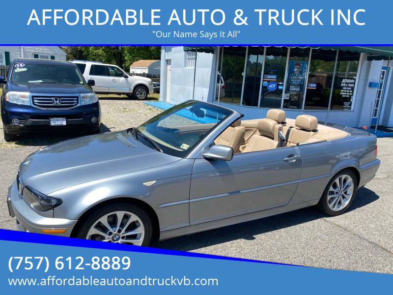 2006 BMW 3 Series for sale at AFFORDABLE AUTO & TRUCK INC in Virginia Beach VA