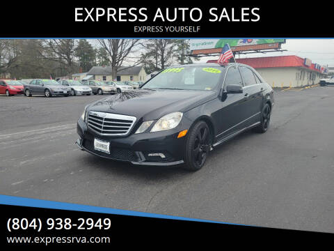 2011 Mercedes-Benz E-Class for sale at EXPRESS AUTO SALES in Midlothian VA