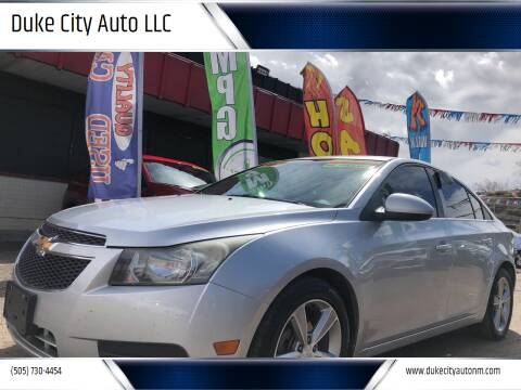 2012 Chevrolet Cruze for sale at Duke City Auto LLC in Gallup NM