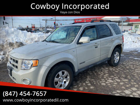 2008 Ford Escape for sale at Cowboy Incorporated in Waukegan IL