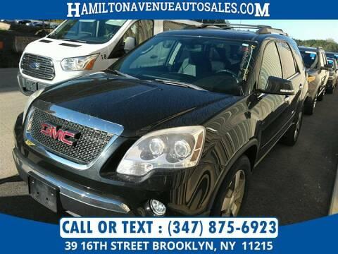 2012 GMC Acadia for sale at Hamilton Avenue Auto Sales in Brooklyn NY
