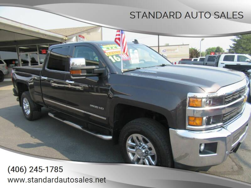 2016 Chevrolet Silverado 2500HD for sale at Standard Auto Sales in Billings MT