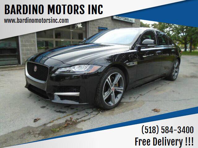2018 Jaguar XF for sale at BARDINO MOTORS INC in Saratoga Springs NY