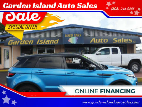 2018 Land Rover Range Rover Evoque for sale at Garden Island Auto Sales in Lihue HI
