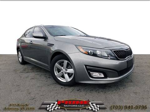 2015 Kia Optima for sale at PRIME MOTORS LLC in Arlington VA