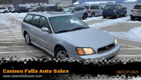 2003 Subaru Legacy for sale at Cannon Falls Auto Sales in Cannon Falls MN