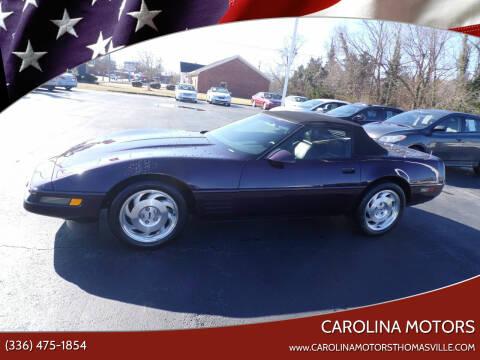 1993 Chevrolet Corvette for sale at CAROLINA MOTORS in Thomasville NC
