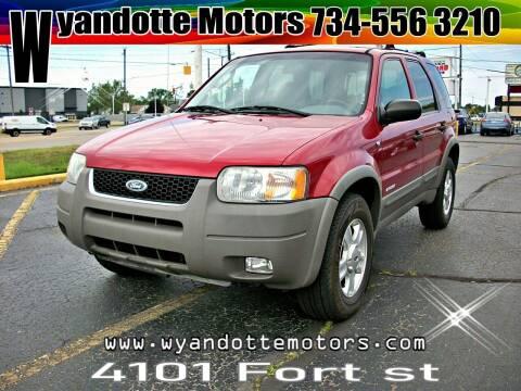2001 Ford Escape for sale at Wyandotte Motors in Wyandotte MI