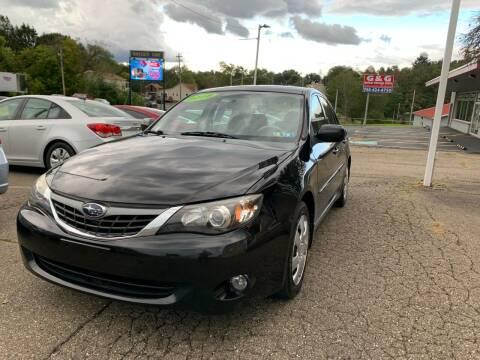2008 Subaru Impreza for sale at G & G Auto Sales in Steubenville OH