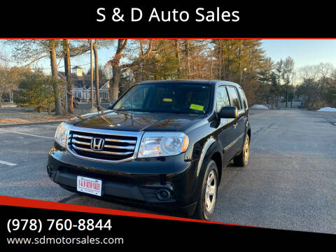 2014 Honda Pilot for sale at S & D Auto Sales in Maynard MA